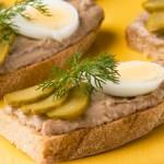 Бутерброд с отварным мясом или языком